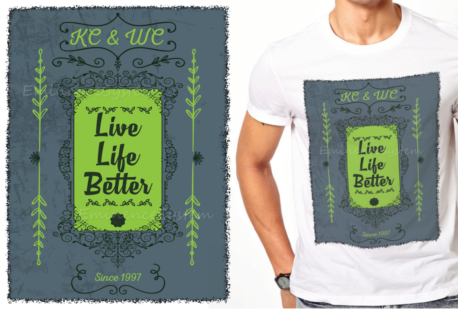 Customized t-shirt designs