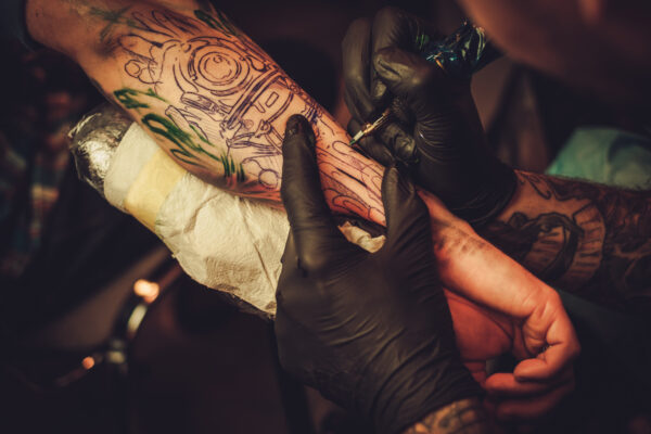 Abstract tattoo style